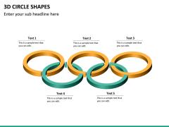 3D circle shapes PPT slide 19
