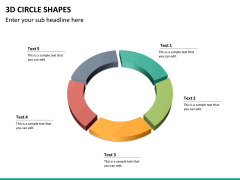 3D circle shapes PPT slide 23
