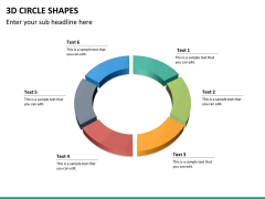 3D circle shapes PPT slide 24