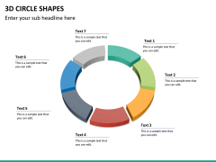 3D circle shapes PPT slide 25