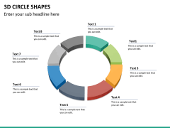 3D circle shapes PPT slide 26