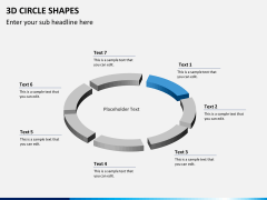 3D circle shapes PPT slide 10