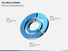 3D circle shapes PPT slide 12