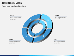 3D circle shapes PPT slide 13
