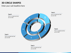 3D circle shapes PPT slide 14