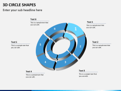 3D circle shapes PPT slide 15