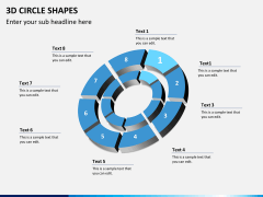 3D circle shapes PPT slide 17
