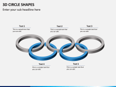 3D circle shapes PPT slide 2