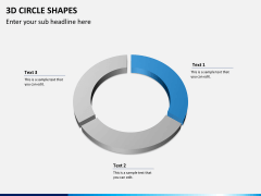 3D circle shapes PPT slide 4