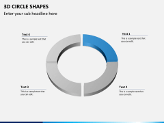 3D circle shapes PPT slide 5