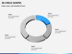 3D circle shapes PPT slide 6