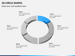3D circle shapes PPT slide 7