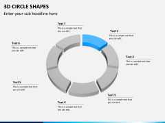 3D circle shapes PPT slide 8