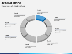3D circle shapes PPT slide 9