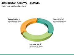 3d circular arrows PPT slide 11