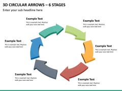 3d circular arrows PPT slide 20