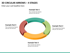 3d circular arrows PPT slide 12