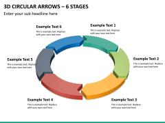 3d circular arrows PPT slide 14