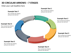 3d circular arrows PPT slide 15