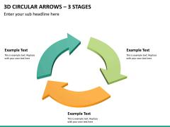 3d circular arrows PPT slide 17