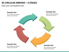 3d circular arrows PPT slide 18