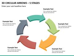 3d circular arrows PPT slide 19