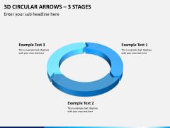 3d circular arrows PPT slide 1