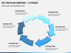 3d circular arrows PPT slide 10