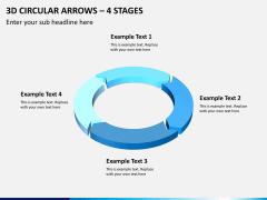 3d circular arrows PPT slide 2