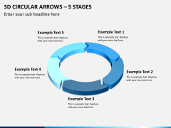 3d circular arrows PPT slide 3