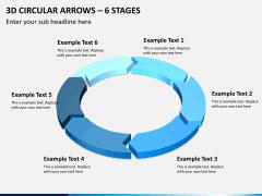 3d circular arrows PPT slide 4