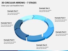 3d circular arrows PPT slide 5