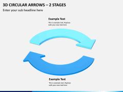 3d circular arrows PPT slide 6
