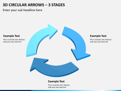 3d circular arrows PPT slide 7