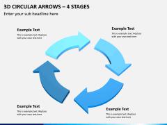 3d circular arrows PPT slide 8