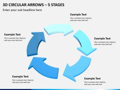 3d circular arrows PPT slide 9
