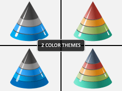 3D cones PPT cover slide