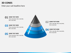 3D cones PPT slide 4