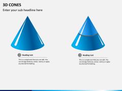 3D cones PPT slide 6