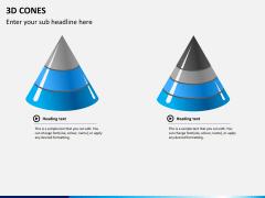 3D cones PPT slide 7