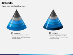 3D cones PPT slide 8