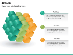 3D cube PPT slide 11