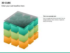 3D cube PPT slide 20