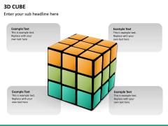 3D cube PPT slide 12