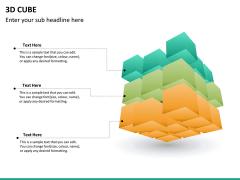 3D cube PPT slide 13