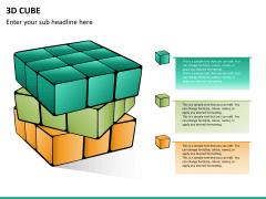3D cube PPT slide 14
