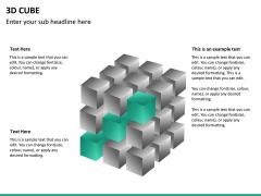 3D cube PPT slide 15