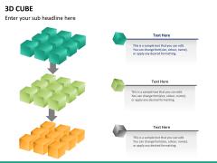3D cube PPT slide 16