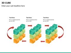 3D cube PPT slide 17