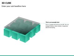 3D cube PPT slide 18